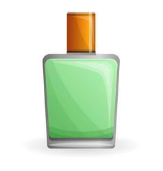Green fragrance icon cartoon style vector