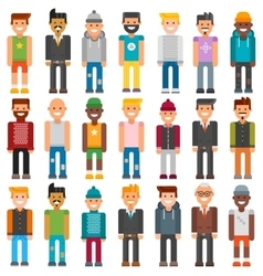 group cartoon characters people different vector image