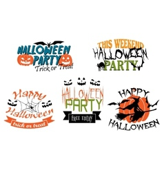 Halloween party banners vector