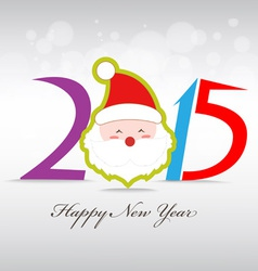 Happy new year and merry christmas with santa vector