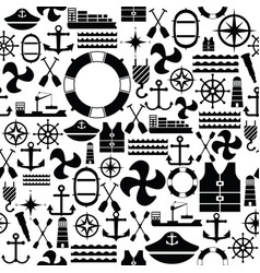Harbor seamless pattern background icon vector