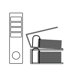 icon of folders with clip vector image