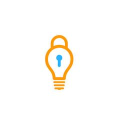 Idea security logo icon design vector