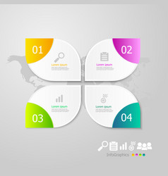 Infographics elements layout 4 steps for business vector