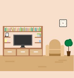 interior of a living room vector image