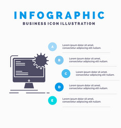 Internet layout page site static infographics vector