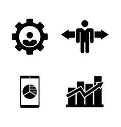 Job vacancy work search simple related icons vector
