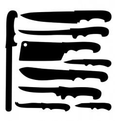 knife set vector image vector image