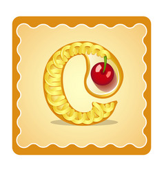 letter c candies vector image