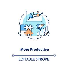 More productive concept icon vector