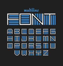 Multiline font bold style vector