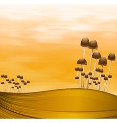 Mushroom plants vector image