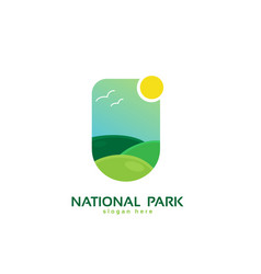 national park logo design vector image