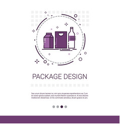 Package design good branding banner with copy vector