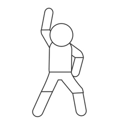 Person stretching pictogram icon vector