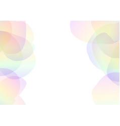 petal abstract transparent vector image