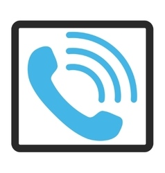 Phone Call Framed Icon vector