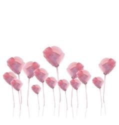 Pink flower watercolor vector