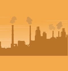 Pollution industry bad environment collection vector