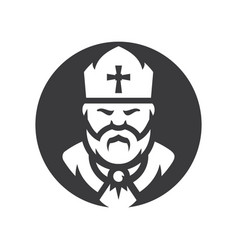 Priest religion silhouette sign vector