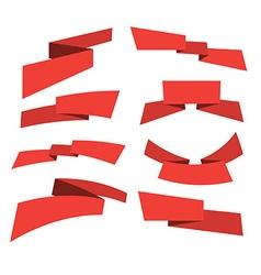 red banner set vector image