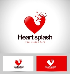 Red Heart Logo vector image