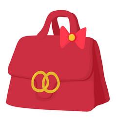 Red lady handbag icon cartoon style vector