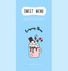 restaurant menu marshmallow sweetest day vector image
