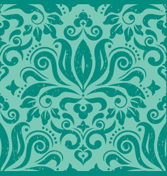 retro damask wallpaper seamless pattern vector image