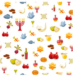 Rosh hashanah shana tova or jewish new year vector