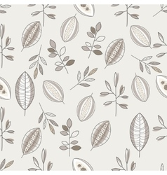 Seamless Leaf Hand Drawn Pattern vector image