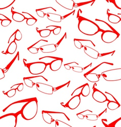 Seamless Red Spectacle Pattern vector image