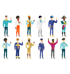 set of professions characters vector image
