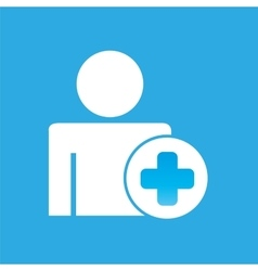 Silhouette man with medical symbol cross graphic vector