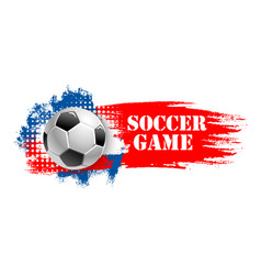 Soccer game team club football ball icon vector
