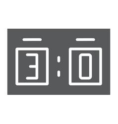 Soccer scoreboard glyph icon sport and football vector