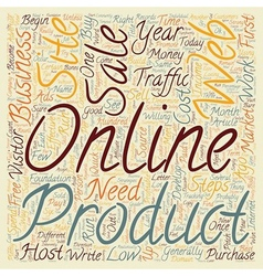 Steps to an Effective Online Business text vector