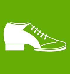 tango shoe icon green vector image