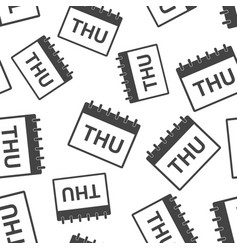 thursday calendar page seamless pattern vector image