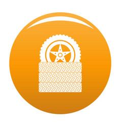 tire leap icon orange vector image