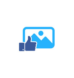 Top social network logo icon design vector