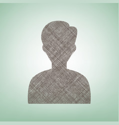 User avatar anonymous sign vector