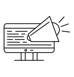 Web ad icon outline style vector