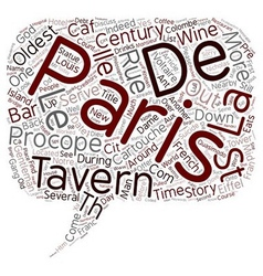 What is the oldest bar in Paris text background vector