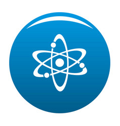 atom icon blue vector image