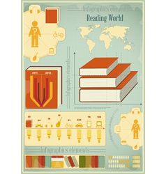 Book Infographics Elements vector image vector image