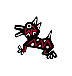 dog icon aztec vector image