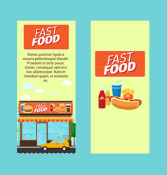 Fast food vertical flyers vector