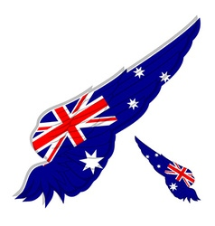 Flag of Australia on Abstract wing vector image vector image