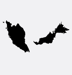 malaysia island map silhouette vector image